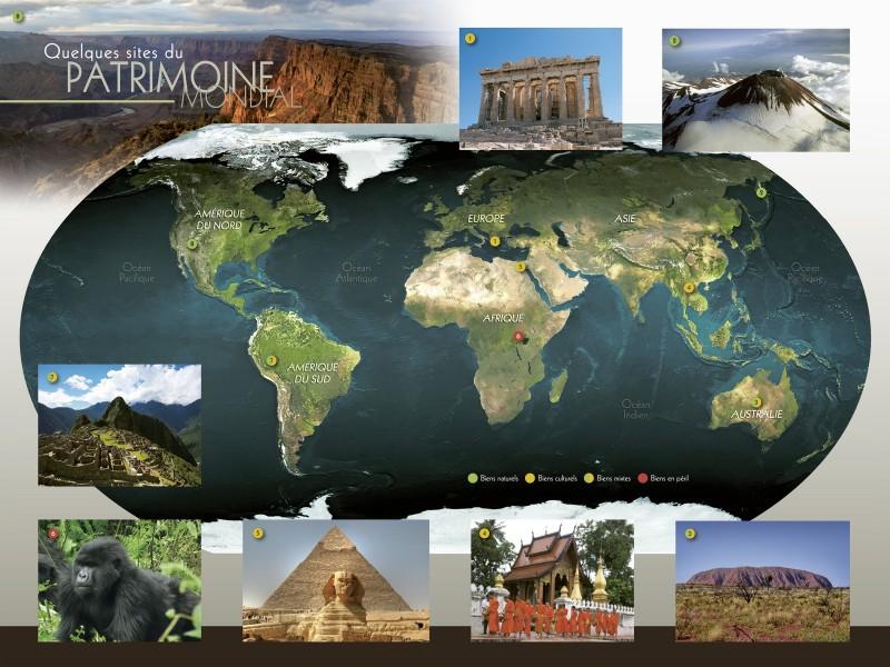 Quelques sites inscrits au patrimoine mondial
