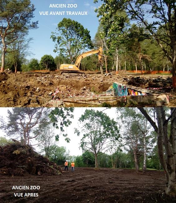 Réhabilitation de l'ancien zoo d'Orcines, situé au pied du puy de Dôme (avant/après travaux)
