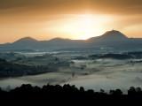 Silhouette de la Chaîne des Puys