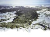 Vue aérienne de la coulée de Mazayes