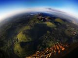 Vue aérienne depuis une montgolfière