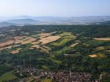 Vue aérienne sur la Montagne de la Serre