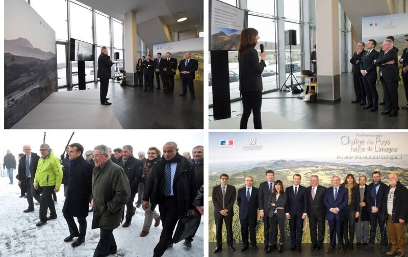 Visite officielle sur site du Président de la République, Monsieur Emmanuel Macron, en soutien à la candidature